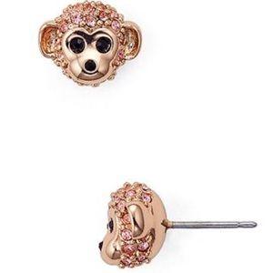 Kate Spade ♠️ Rose Gold 12k Plated Monkey Earrings